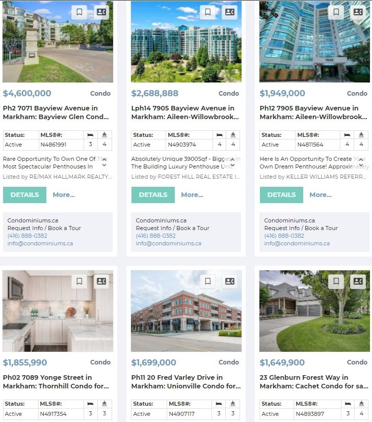 highest priced condos in markham