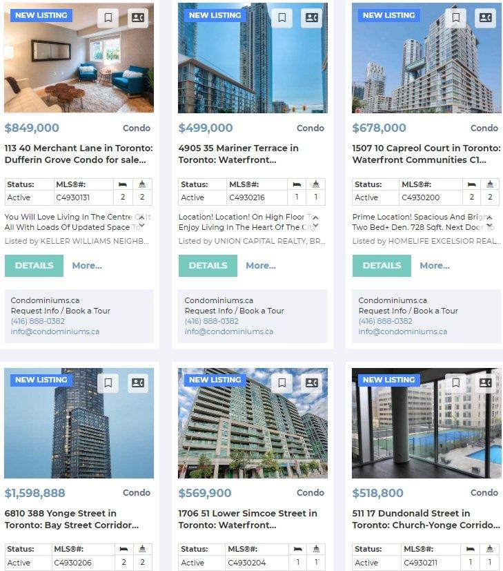 most recent listings Toronto Sept 28